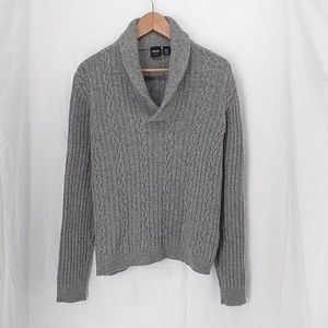Hugo Boss grey Heather sweater L slim fit